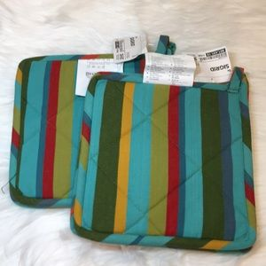 "(4) IKEA ""SIGRID"" 10""x10"" Hot-Pads/Pot-Holders NWT"